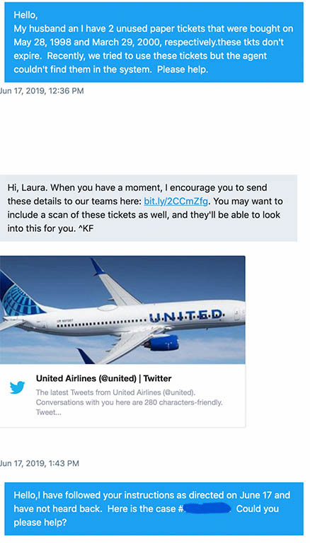 She believes she's found a United Airlines forever ticket