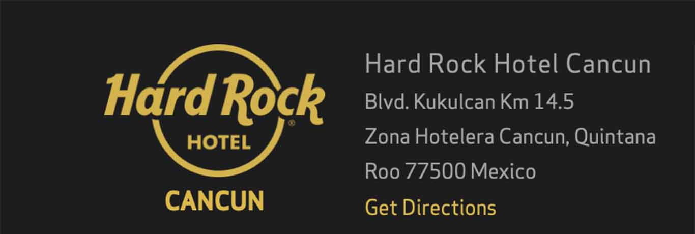 Hard Rock Hotel Cancun is located on the east coast of Mexico
