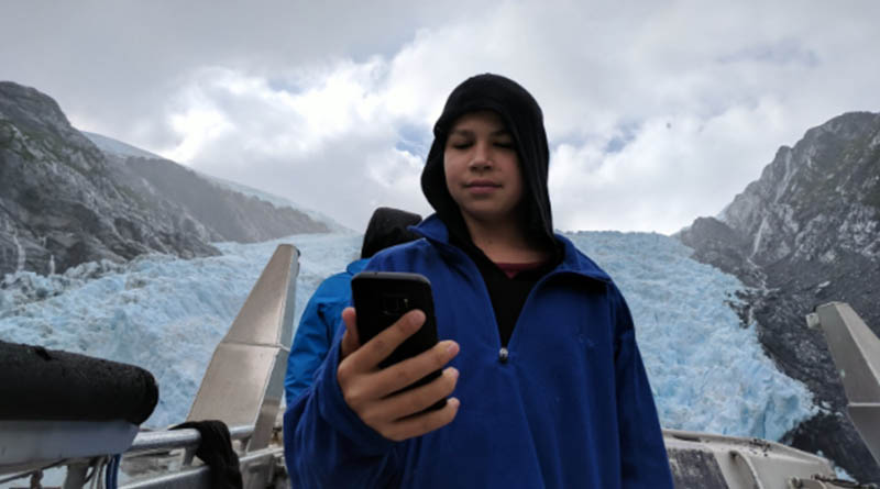 Iden Elliott in Glacier Bay National Park in Alaska. Nice place for a selfie.