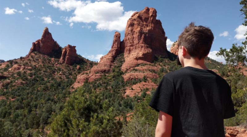 Iden Elliott surveys Sedona's red rocks at Soldier Pass. Sights like these are routine when you're hikning in the most beautiful place on earth.