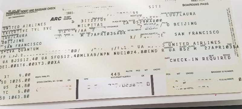 Really? Is this a United Airlines Forever Ticket?