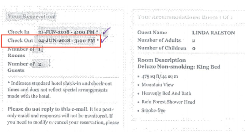 A late checkout led to this hotel billing error.