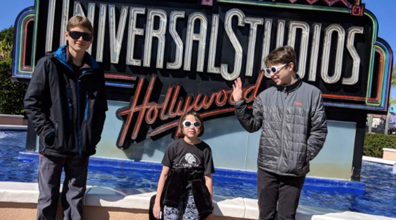 Aren, Erysse and Iden at Universal Studios Hollywood.