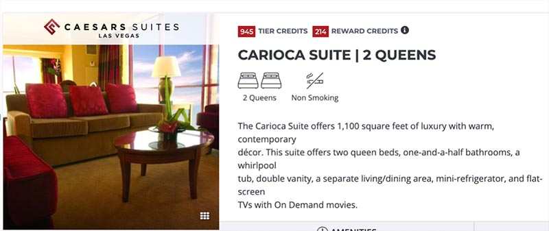 This traveler booked the Carioca Suite. But Priceline put him in a lower class category room.