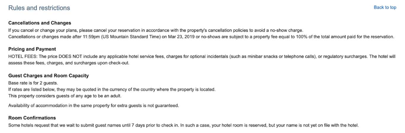 Here are the Ritz Carlton cancellation terms.