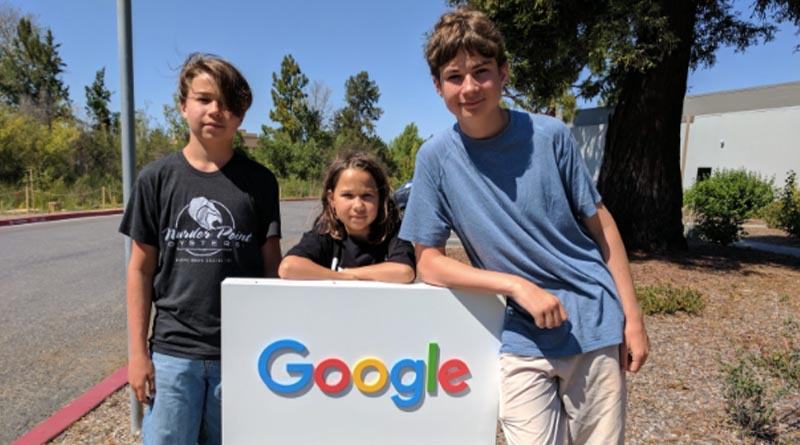 Iden, Erysse and Aren at the Google campus in 2017. Don't let anyone tell you what a tourist attraction is -- or isn't.