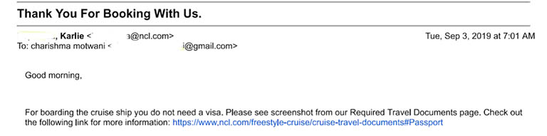 This cruise consultant's wrong advice caused the family to miss their Alaskan cruise.