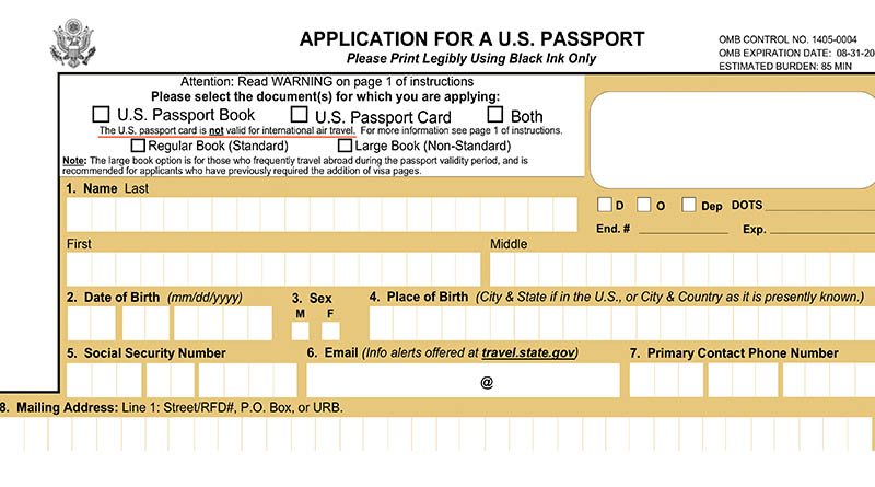 The U.S. Passport application warns that the passport card is not valid for international air travel.