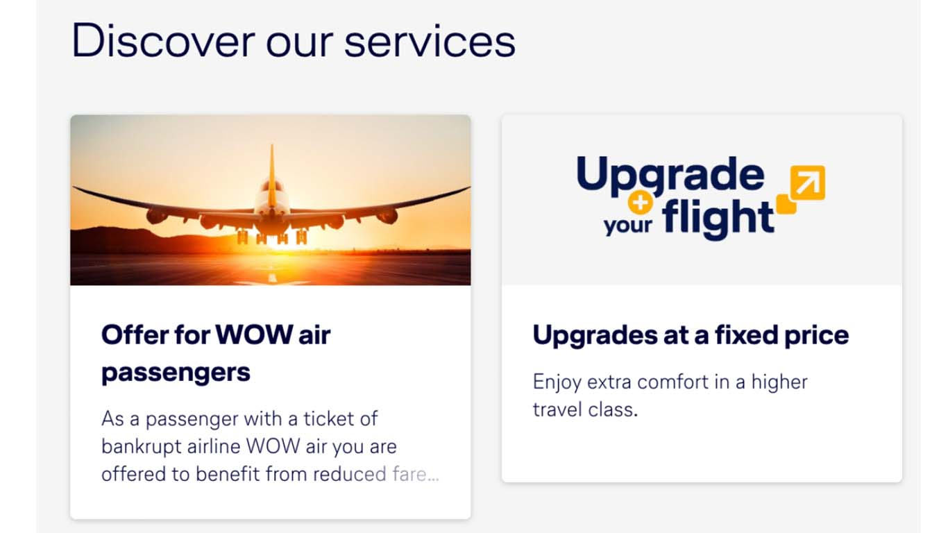 This is the offer from Lufthansa to WOW passengers.