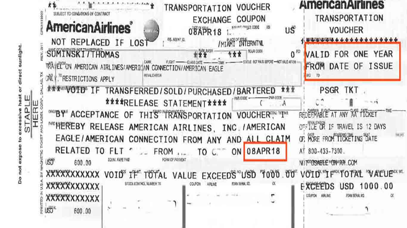 Can't travel on expired American Airlines flight credit