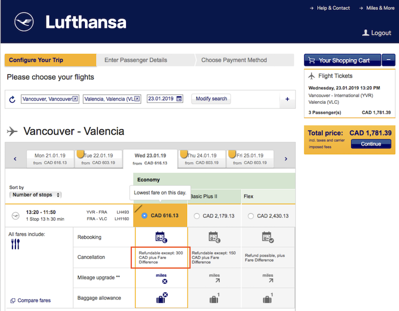 This Lufthansa mistake should lead to a refund