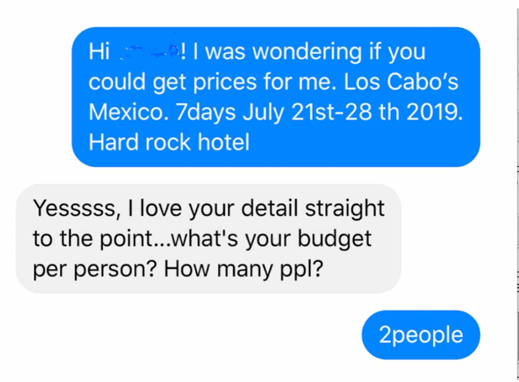 Did she just find the worst travel agent ever?