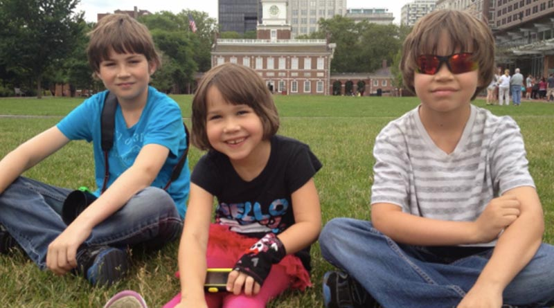 The kids in Philadelphia in 2012. If you go where the tourists go, everyone will think you're a tourist.