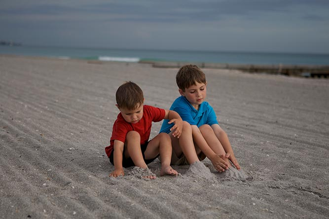 The author's sons on the beach in Florida -- a favorite memory.