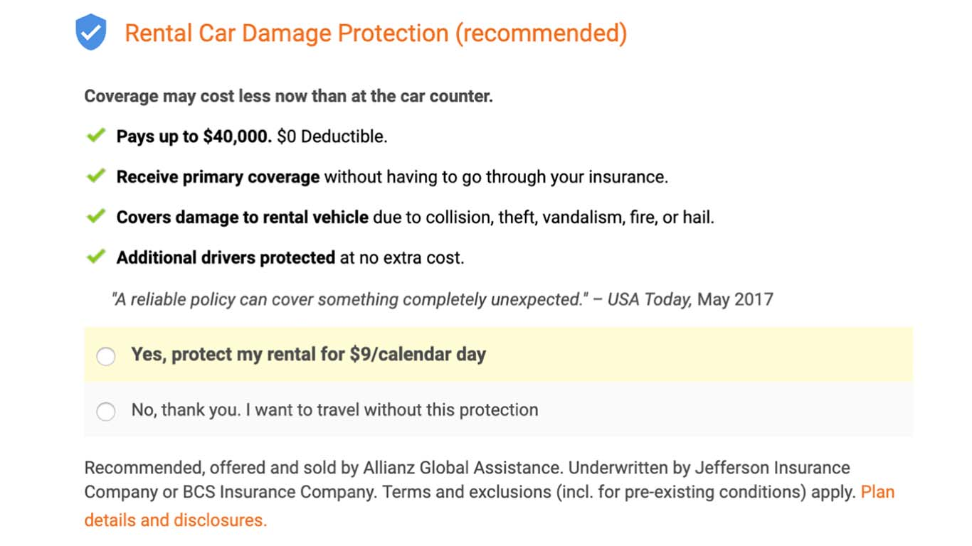 If you give wrong information on your insurance form, you won't be covered.