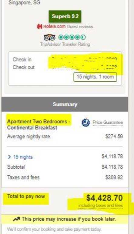 Why did her price match claim fail? This is the lower rate that the consumer found post-booking.