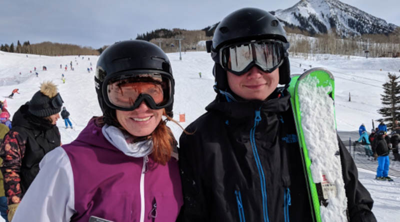 Wendy Fisher and Aren Elliott in Crested Butte, Colo.